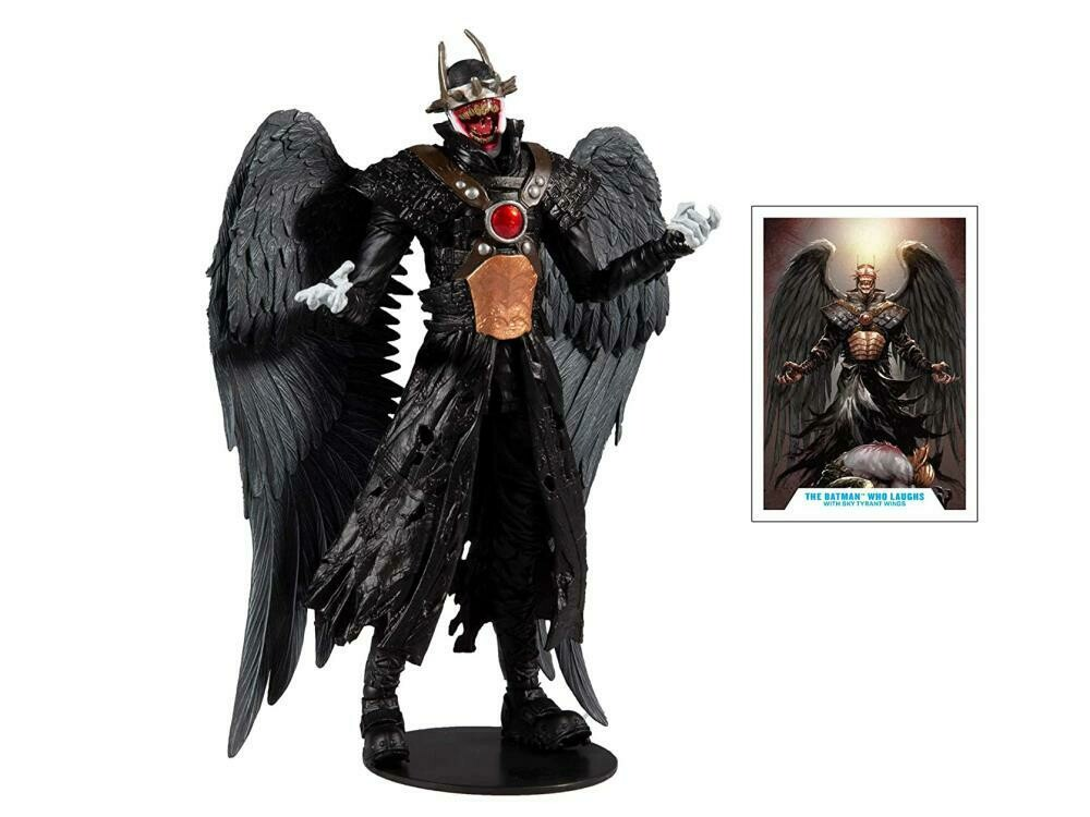 The Batman Who Laughs DC Multiverse The Batman Who Laughs with Sky Tyrant Wings Action Figure (Collect to Build: The Merciless)