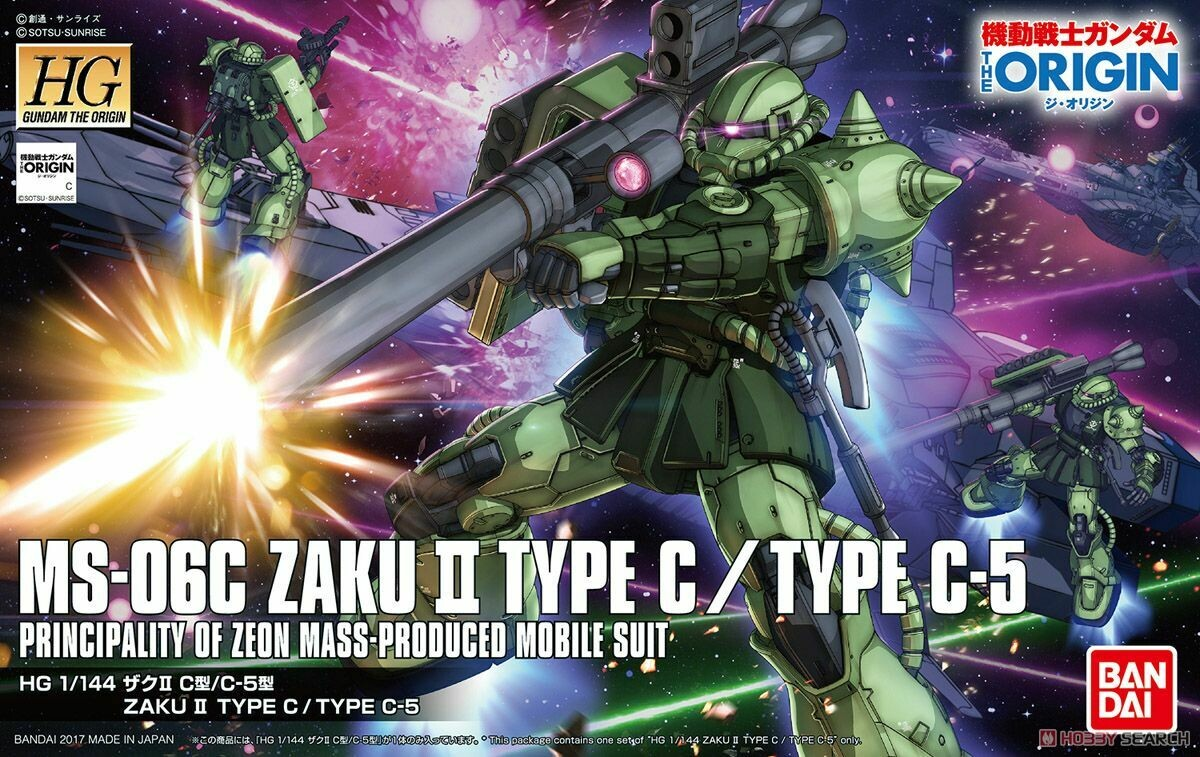 Zaku II Type C-5 (HG) 1/144 Gundam The Origin 016
