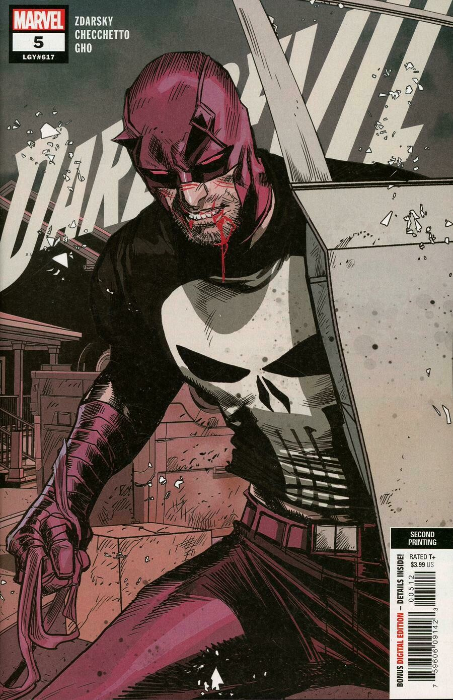 Daredevil #5  2nd Print Mark Chechetto Variant Cover  HIGH GRADE