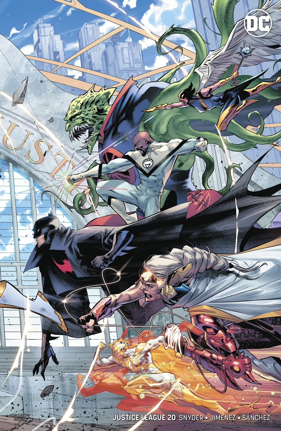 Justice League #20 Jorge Jimenez Right Side Connecting Variant HIGH GRADE