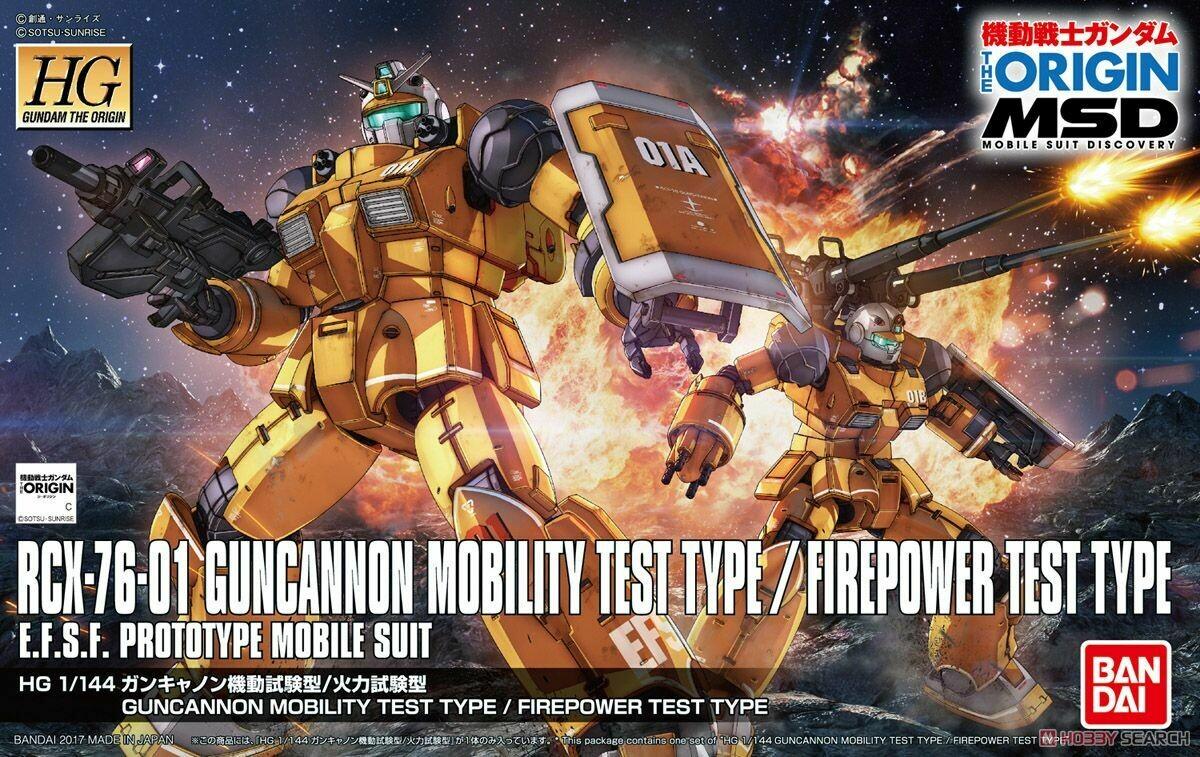 Gundam: Guncannon Mobility and Firepower Test Type 1:144 Model Kit