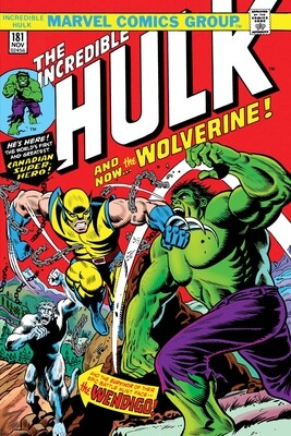 INCREDIBLE HULK #181 FACSIMILE EDITION HIGH GRADE