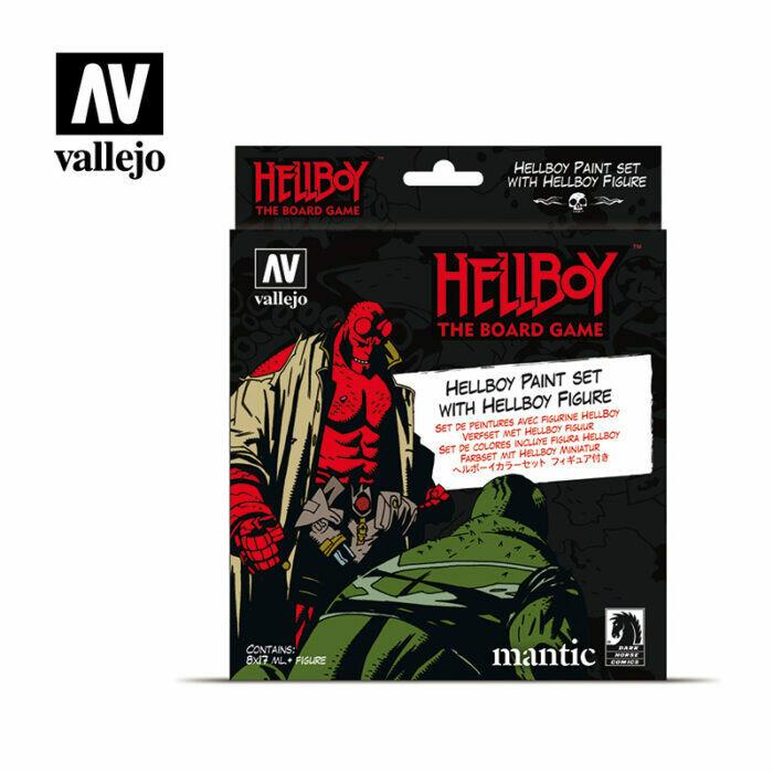 Vallejo Hellboy Paint Set with figure - Set 8 colors 17 ml.