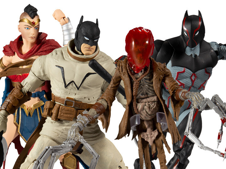 Last Knight on Earth DC Multiverse Wave 1 Set of 4 Action Figures (Collect to Build: Bane)