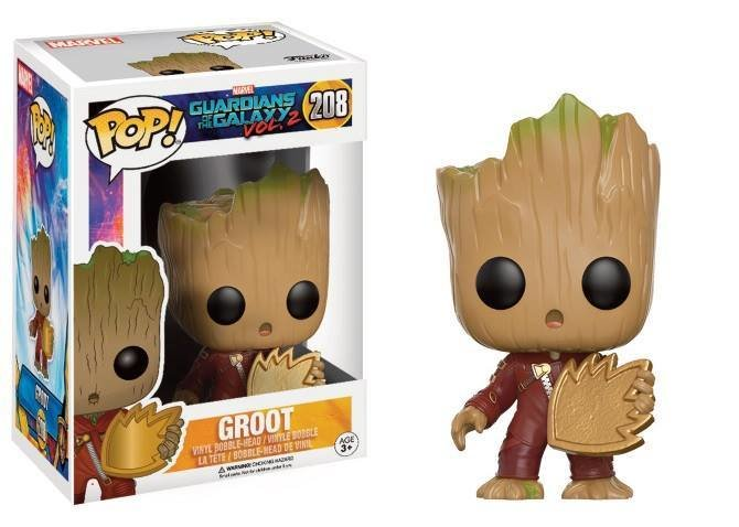 Pop! Marvel: Guardians of The Galaxy 2 - Young Groot with Shield LIMITED EDITION