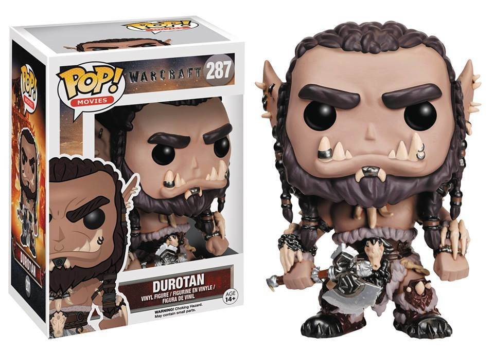POP WARCRAFT MOVIE DUROTAN VINYL FIGURE