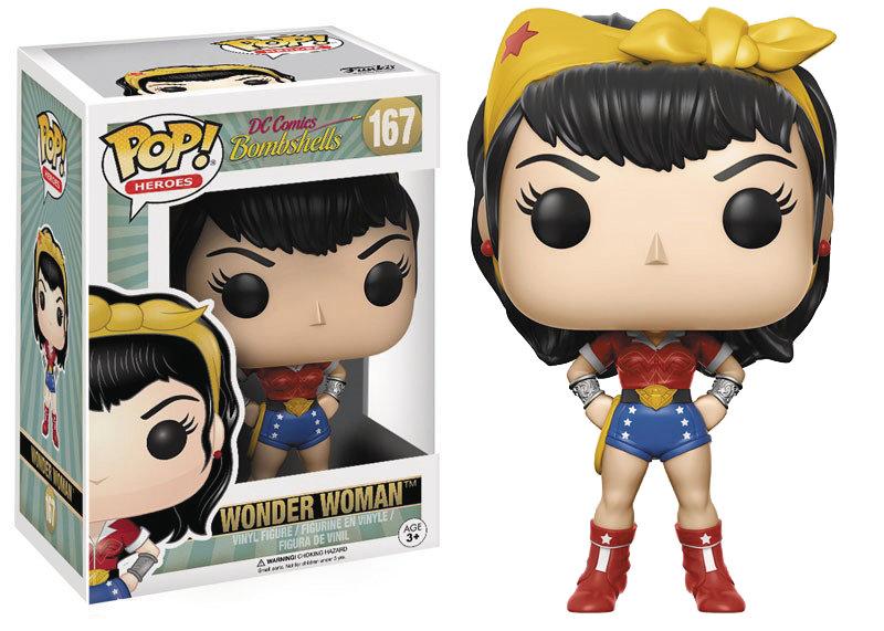 POP DC BOMBSHELLS WONDER WOMAN VINYL FIGURE