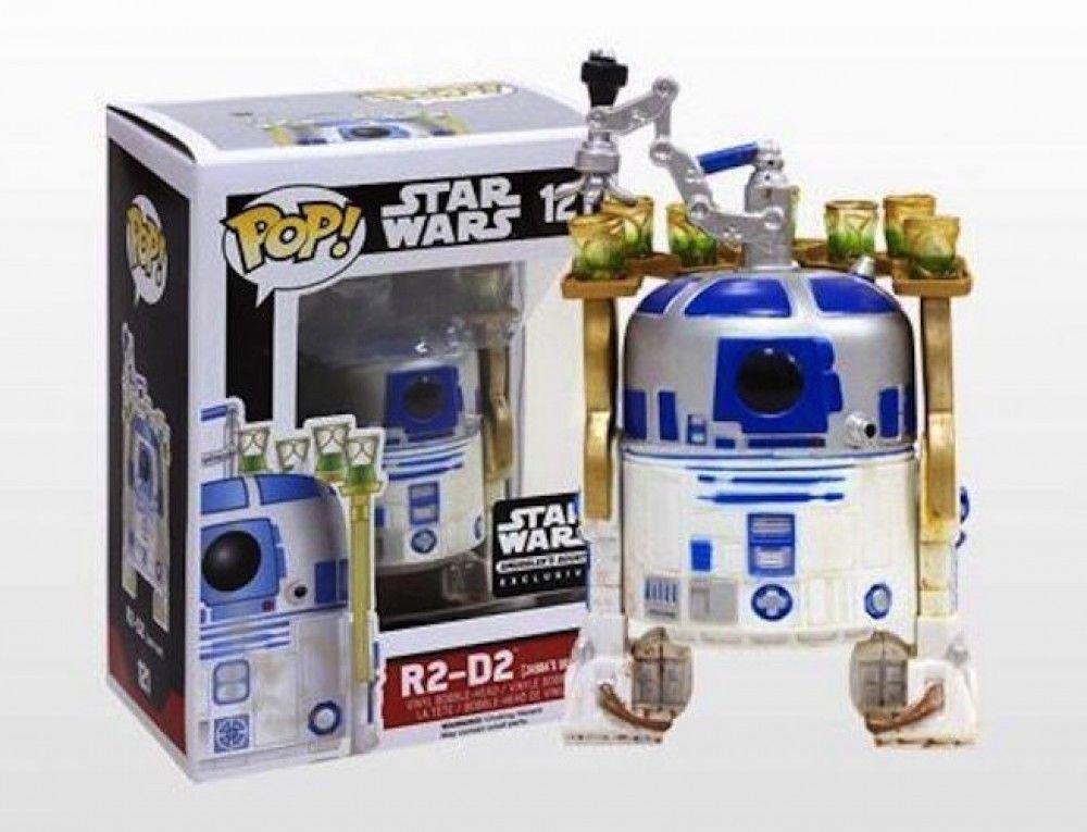 Funko Pop #121 Star Wars Smugglers Bounty Exclusive Jabba's Skiff R2-D2 Figure