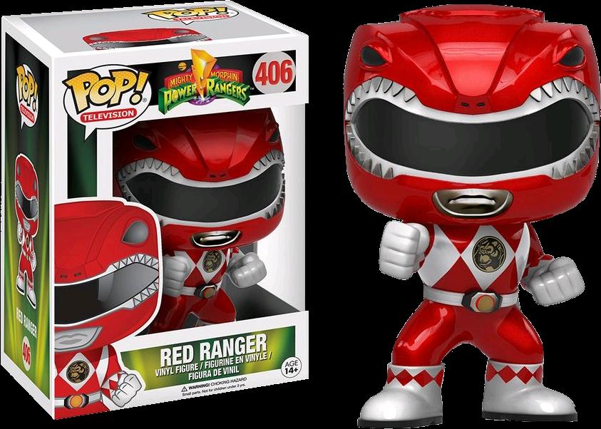 Pop Vinyl Television Red Ranger (Metallic) (Action Pose)