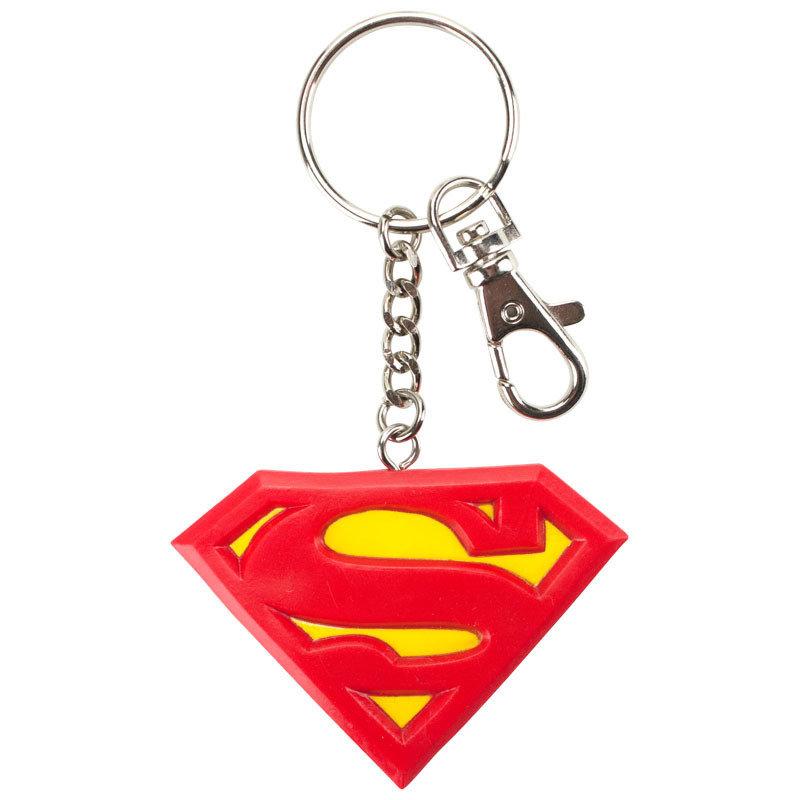 Superman Logo 2.7in Bendable Key Chain