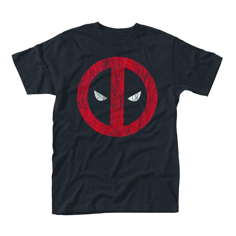 MARVEL DEADPOOL DISTRESSED LOGO  T-Shirt