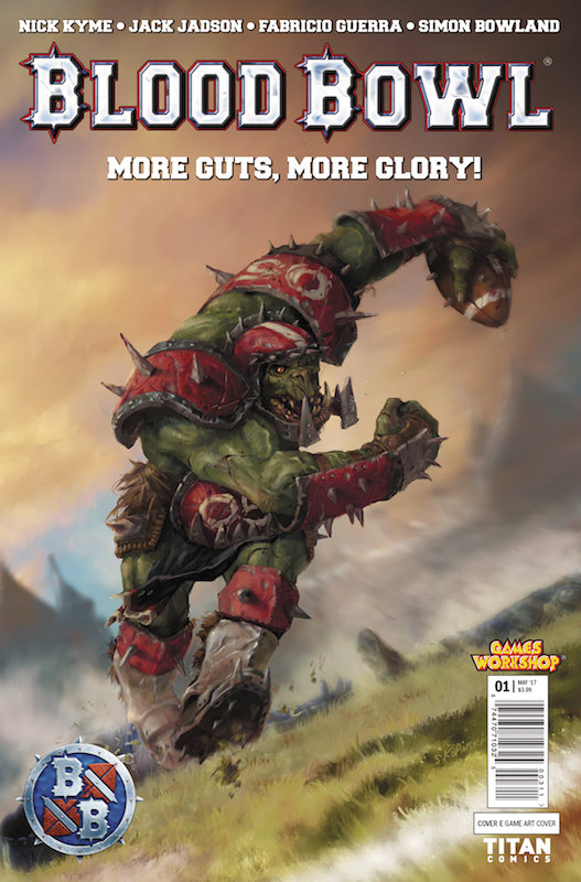 BLOOD BOWL MORE GUTS MORE GLORY #1  cover E
