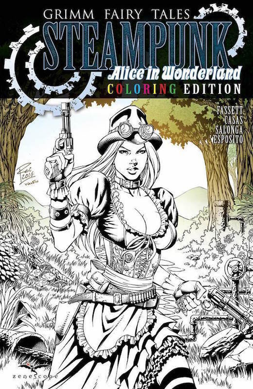 GFT STEAMPUNK ALICE IN WONDERLAND COLORING BOOK EDITION