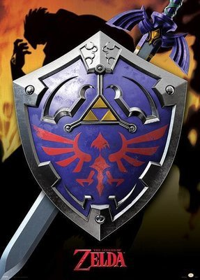 The Legend Of Zelda Hylian Shield  Metallic Poster