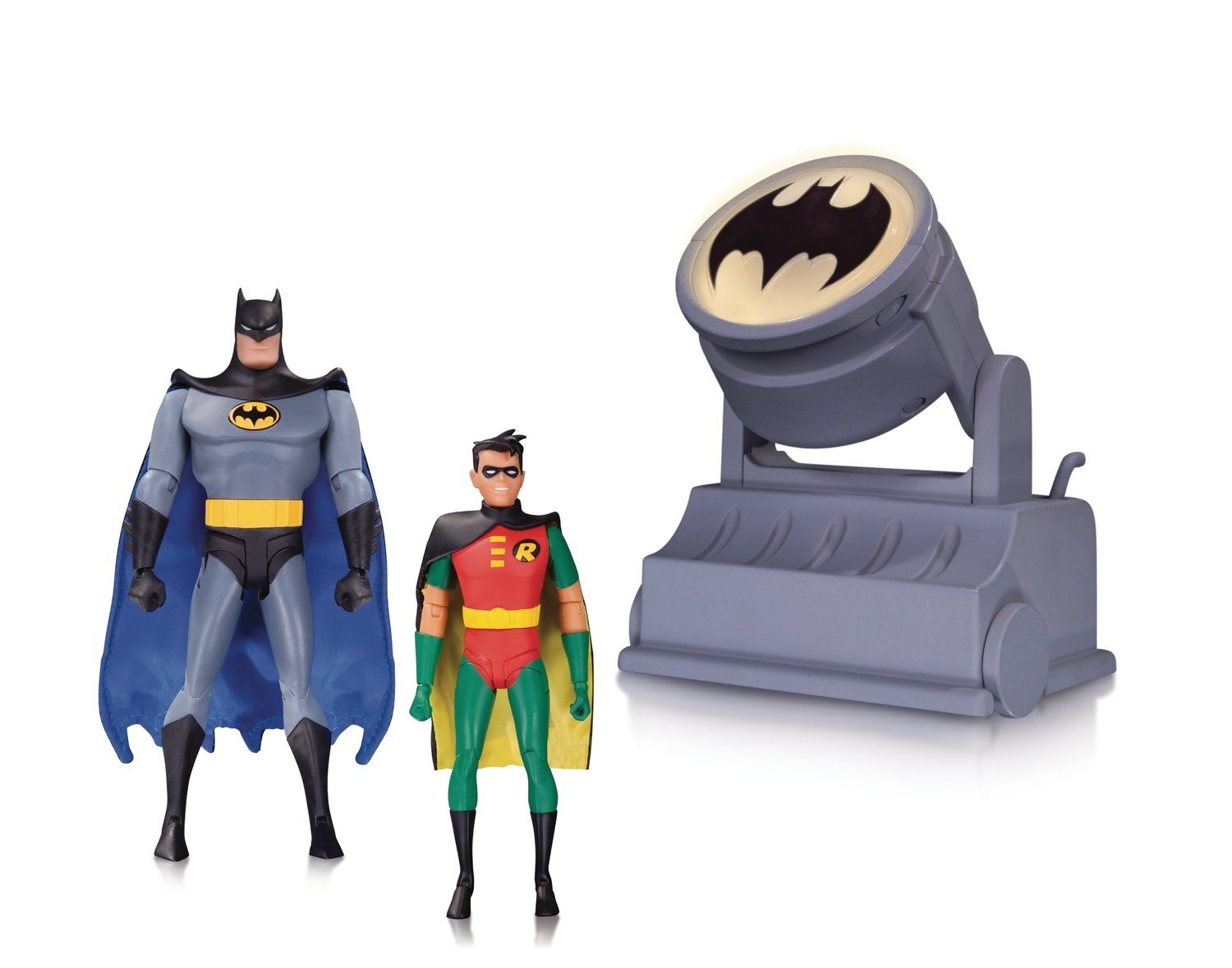 BATMAN ANIMATED SER BATMAN & ROBIN W BATSIGNAL 2 PK