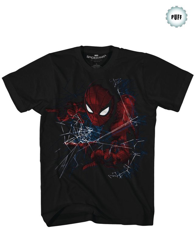SPIDER-MAN HOMECOMING ACCIDENTALLY AWESOME BLK T/S