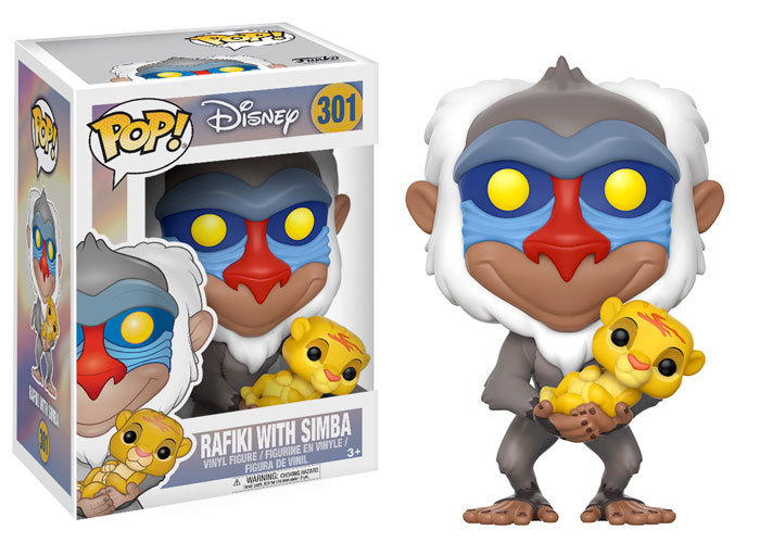 Pop Vinyl Pop Disney  Rafiki with Simba