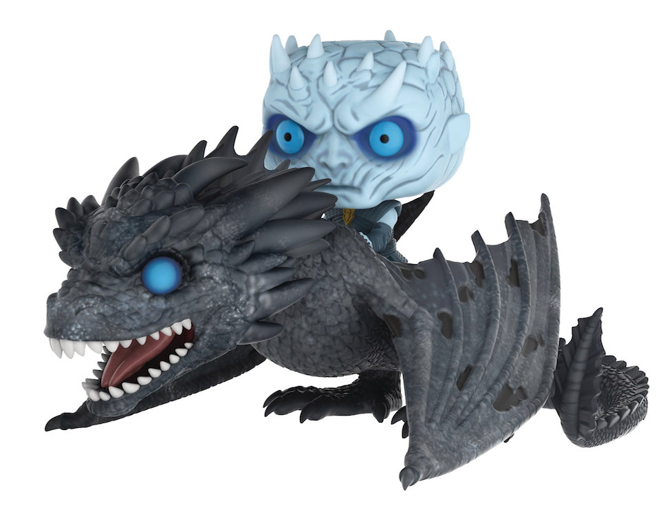 POP RIDES GAME OF THRONES NIGHT KING ON DRAGON VIN FIG