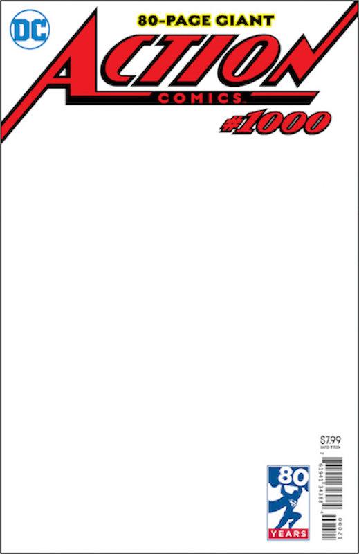 ACTION COMICS #1000 BLANK VAR ED