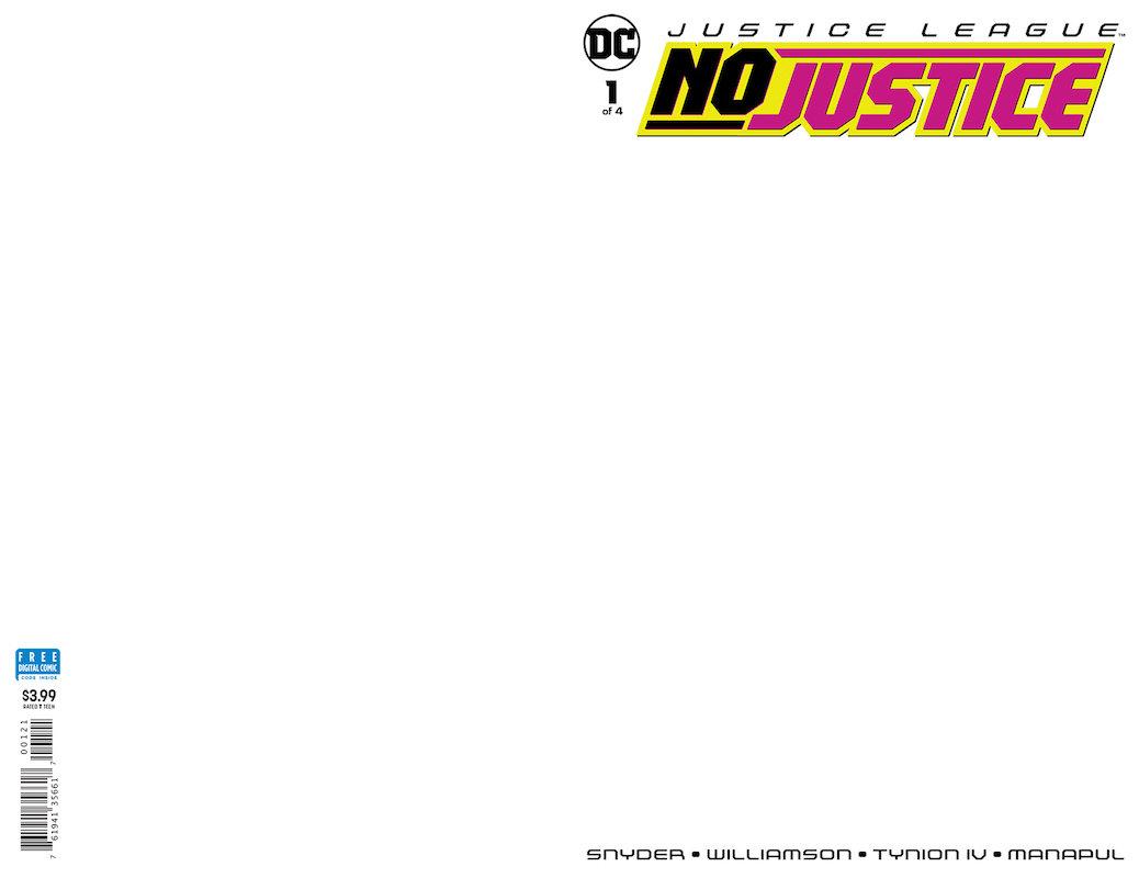 JUSTICE LEAGUE NO JUSTICE #1  BLANK