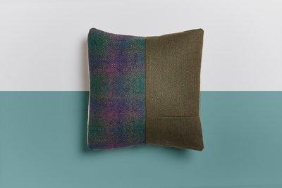 The Milbourne Cushion (Harris Tweed, wool & natural calico)