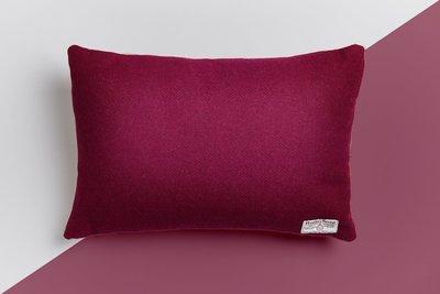 The Claret Tweed Cushion (Harris Tweed)