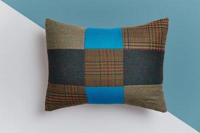 The Hampshire Blue Tweed Cushion