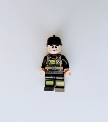 Minifigure Soap - Firefighter (black)
