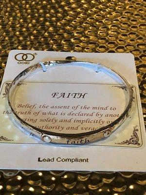 """""""FAITH"""" mantra bracelet"""