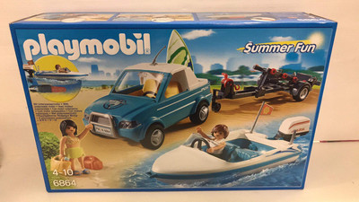 6864 Vehicle With Speedboat And Working Motor