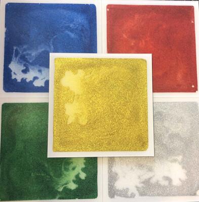 30cm X 30cm Glitter Tile BLUE