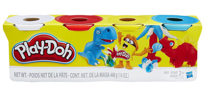 Play Doh 4 Pack Assorted Colours