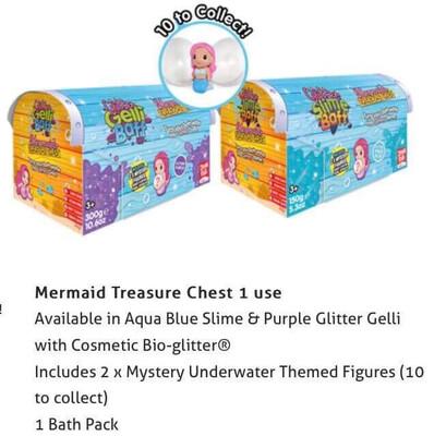 Mermaid Treasure Chest Purple Glitter Gelli