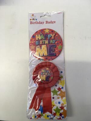 Happy Birthday To Me Badge Set