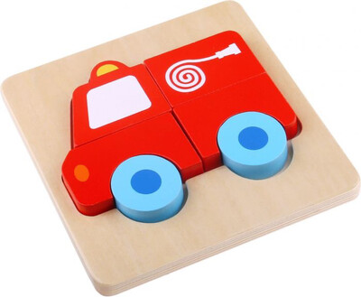 Wooden Fire Engine Puzzle
