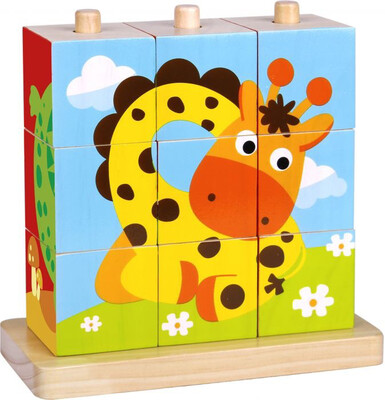 Wooden Stacking Animal Puzzle
