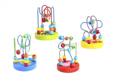 Wooden Mini Beads Coaster 4 ASSORTED Colours