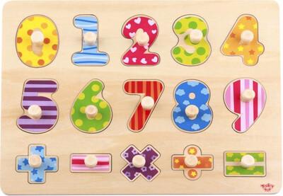 Wooden Number Puzzle 16pcs