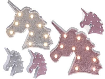 WHITE illuminated Unicorn head