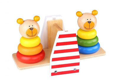 Wooden Bear Balance