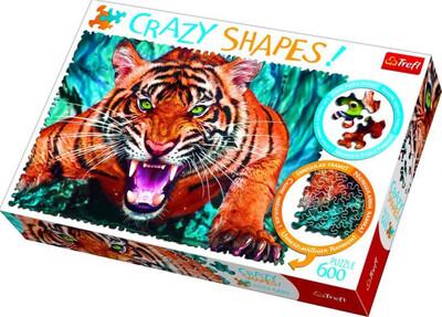 600 Pcs Crazy Shape Tiger Puzzle
