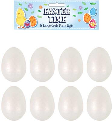 8pk Large Foam Craft Eggs