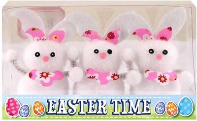 3pk Easter Bunnies 6.5cm