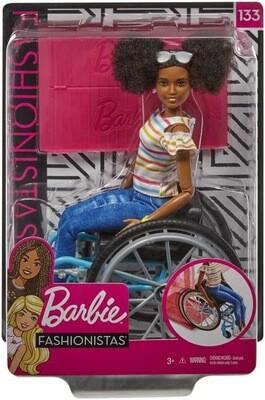 Barbie Brown Hair with Wheelchair
