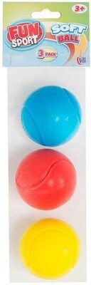 3pk Sponge Soft Balls