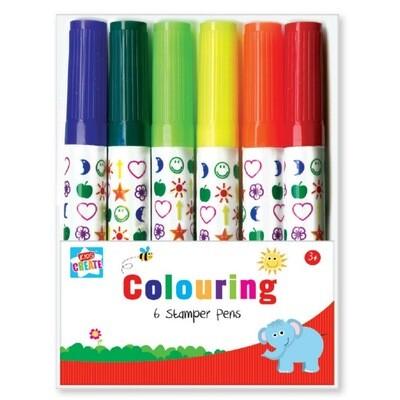 6pk Stamper Colouring Pens