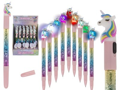 Unicorn Pen With Glitter & LED light