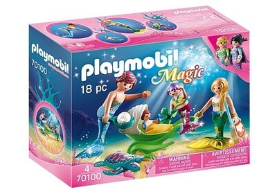 70100 Mermaid Family with Shell Stroller