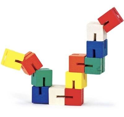 Wooden Twist & Lock Blocks