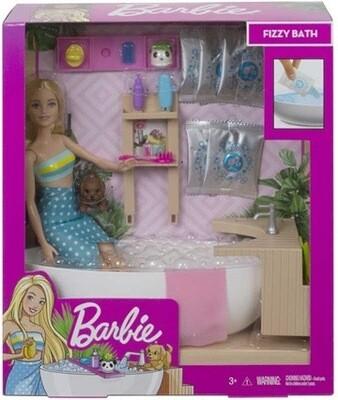 Barbie Fizzy Bath Doll & Play Set